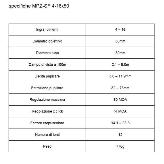 specifiche-MPZ-SF-4-16×50